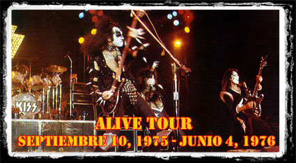 Kiss Tourdates Alive 1975 76